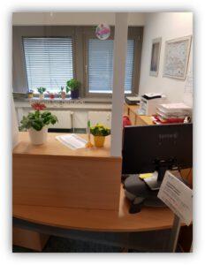 Hausarztpraxis in Berlin-Hohenschönhausen - Empfang
